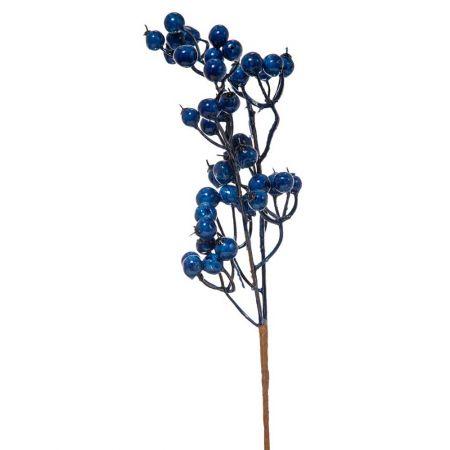 Χριστουγεννιάτικο κλαδί Berries - Γκι Μπλε 10x33cm
