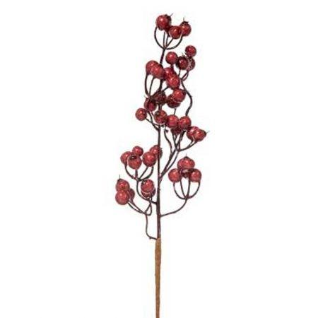 Χριστουγεννιάτικο κλαδί Berries - Γκι Σάπιο Μήλο 10x33cm