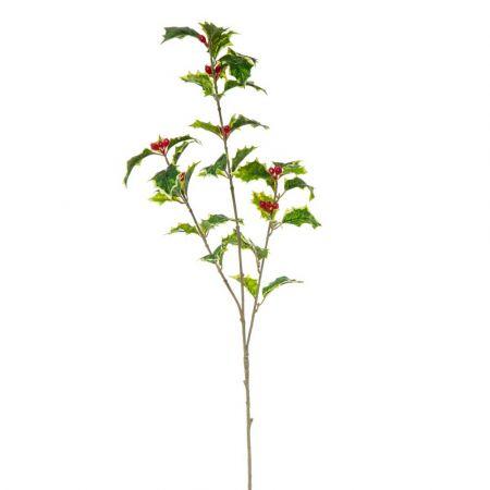 Διακοσμητικό κλαδί Γκι Πράσινο - Κόκκινο