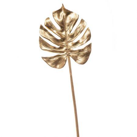 Διακοσμητικό φύλλο Monstera Χρυσό 62cm