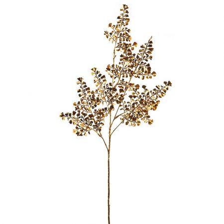 Διακοσμητικό κλαδί Φτέρης Χρυσό 64cm