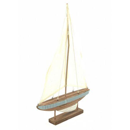 Διακοσμητικό ξύλινο καραβάκι 56x31x5cm