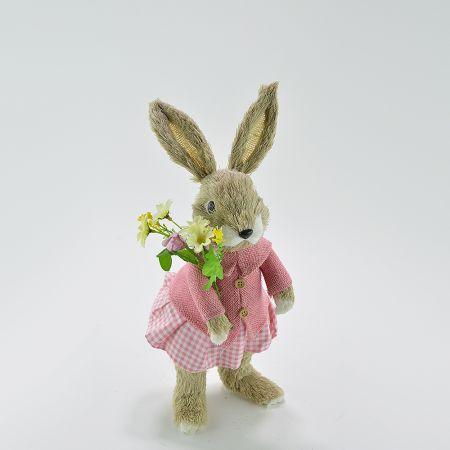 Διακοσμητικό Κουνελάκι Πασχαλινό - Κοριτσάκι 41cm