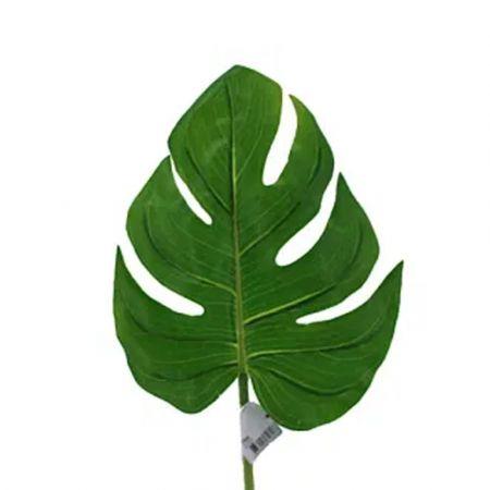 Διακοσμητικό εξωτικό φύλλο Μονστέρα Πράσινο 20x56cm