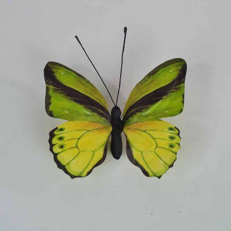 Διακοσμητική πεταλούδα Πράσινη 30x27x3cm