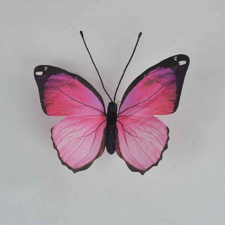 Διακοσμητική πεταλούδα Ρόζ 30x27x3cm