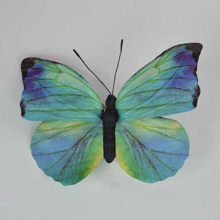 Διακοσμητική πεταλούδα Μπλε 50x47x5cm