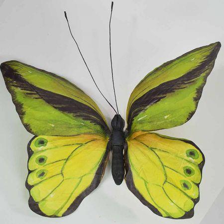 Διακοσμητική πεταλούδα Πράσινη 80x70x7cm