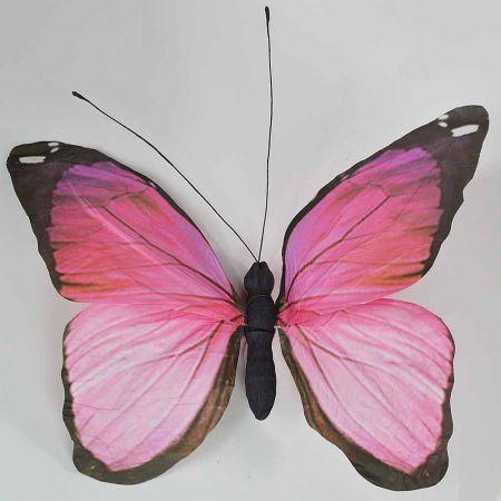 Διακοσμητική πεταλούδα Ροζ 80x70x7cm