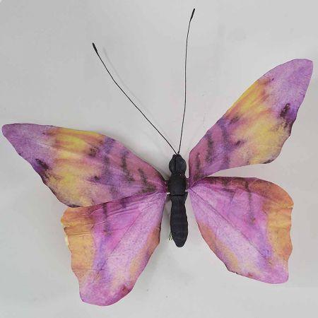 Διακοσμητική πεταλούδα Μωβ 80x70x7cm