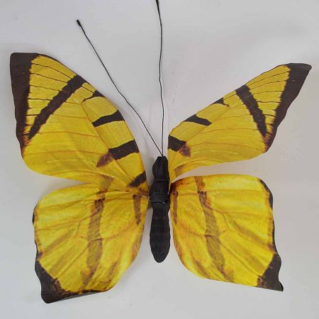 Διακοσμητική πεταλούδα Κίτρινη 80x70x7cm