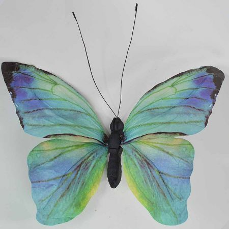Διακοσμητική πεταλούδα Μπλε 80x70x7cm