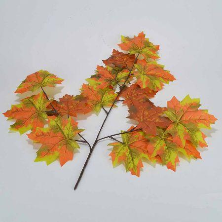 Διακοσμητικό κλαδί σφενδάμου Πορτοκαλί - Κίτρινο 50x60cm