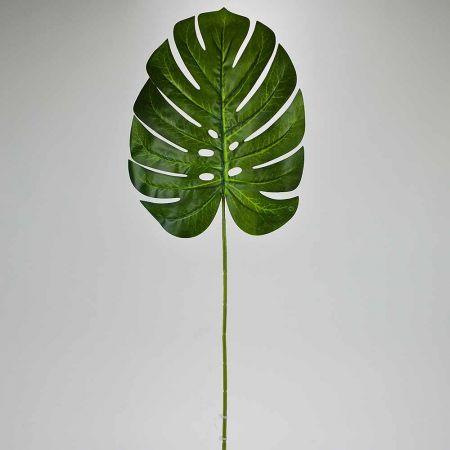 Διακοσμητικό εξωτικό φύλλο Μονστέρα Πράσινο 72cm