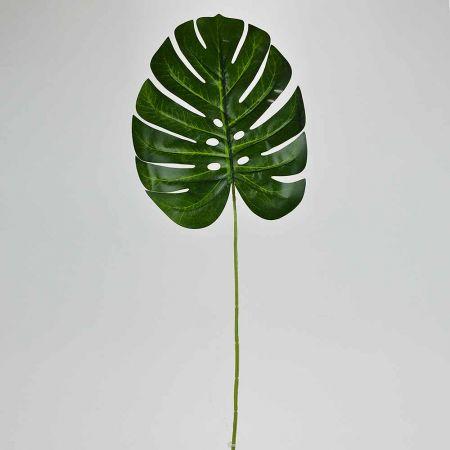 Διακοσμητικό εξωτικό φύλλο Μονστέρα Πράσινο 62cm
