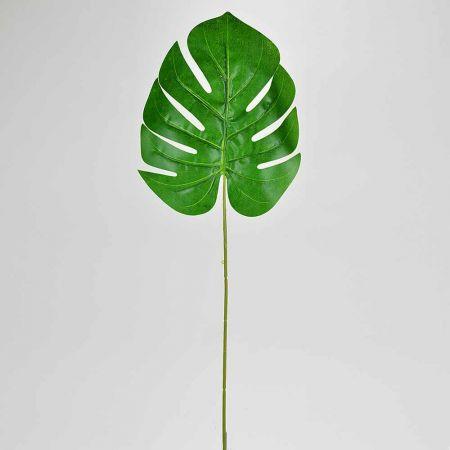 Διακοσμητικό εξωτικό φύλλο Μονστέρα Πράσινο 59cm
