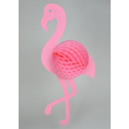 Διακοσμητικό κρεμαστό Φλαμίνγκο κυψελωτό Ροζ 96x45cm