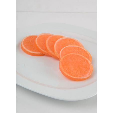 Σετ 6τχ διακοσμητικές φέτες πορτοκαλιού απομίμηση 6cm