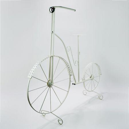 Διακοσμητικό μεταλλικό ποδήλατο Λευκό 120x45x114cm