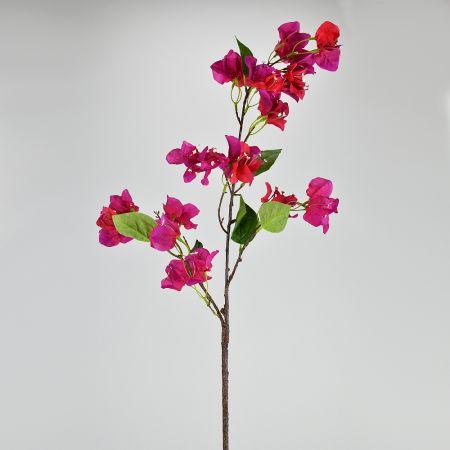 Διακοσμητικό τεχνητό κλαδί Βουκαμβίλιας Φούξια 100cm