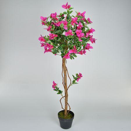 Τεχνητό φυτό Βουκαμβίλια μπάλα με Φούξια άνθη σε γλάστρα 120cm
