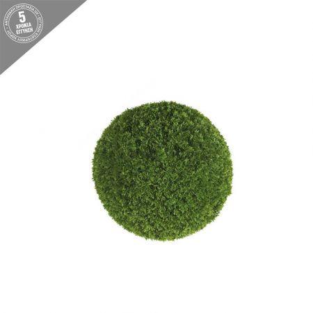 Διακοσμητική τεχνητή μπάλα λεμονοκυπάρισσο 18cm