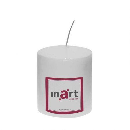 Διακοσμητικό κερί - κορμός Λευκό 9x10cm