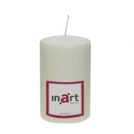 Διακοσμητικό κερί - κορμός Εκρού 9x14cm