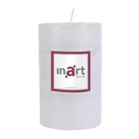 Διακοσμητικό κερί - κορμός αρωματικό Λευκό 9x14cm
