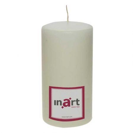 Διακοσμητικό κερί - κορμός Εκρού 9x18cm