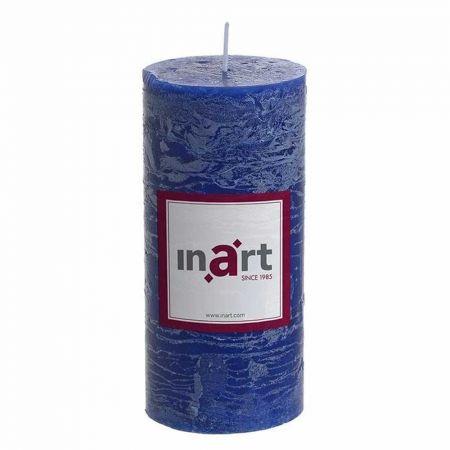 Διακοσμητικό κερί - κορμός αρωματικό Μπλε 7x15cm