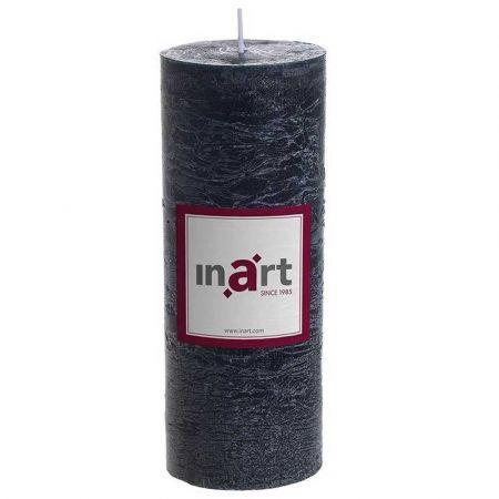 Διακοσμητικό κερί - κορμός αρωματικό μαύρο 7x18cm