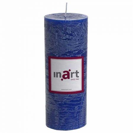 Διακοσμητικό κερί - κορμός αρωματικό Μπλε 7x18cm