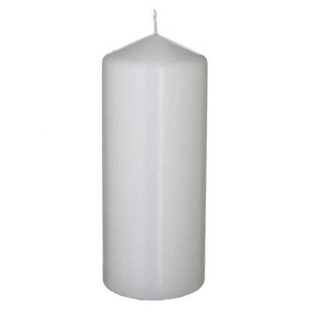 Διακοσμητικό κερί - κορμός Γκρι 8x20cm