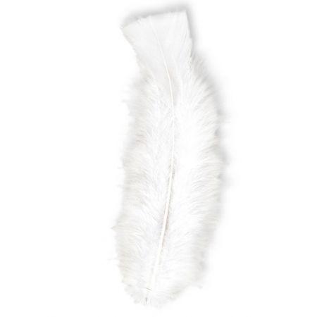 Σετ 50τχ φτερά Μαραμπού Λευκό 10cm