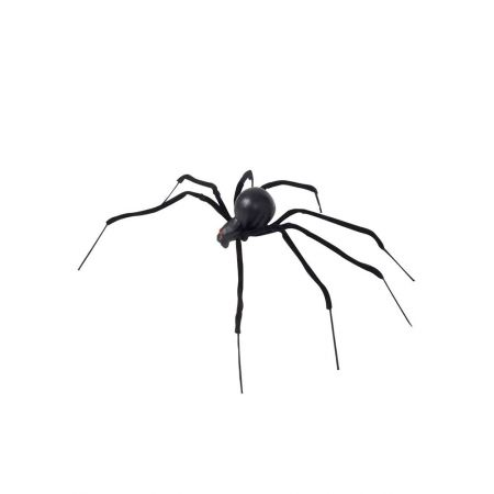 XL Διακοσμητική αράχνη με εύκαμπτα πόδια Μαύρη 90cm