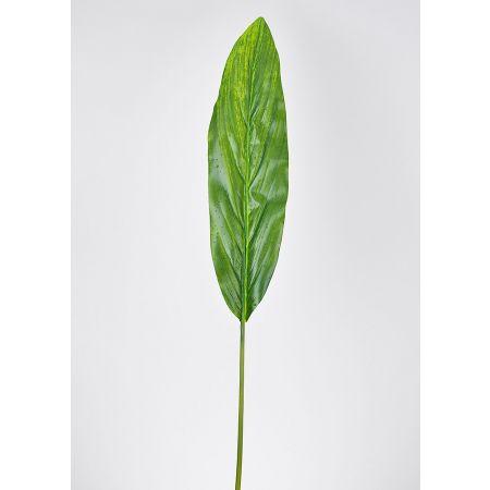 Διακοσμητικό φύλλο dracaena με δροσοσταλίδες, 100cm