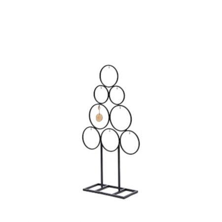 Χριστουγεννιάτικο δέντρο - σταντ με μεταλλικούς κύκλους Μαύρο 78x43cm