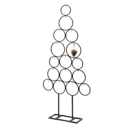 Χριστουγεννιάτικο δέντρο - σταντ με μεταλλικούς κύκλους Μαύρο 118x53cm