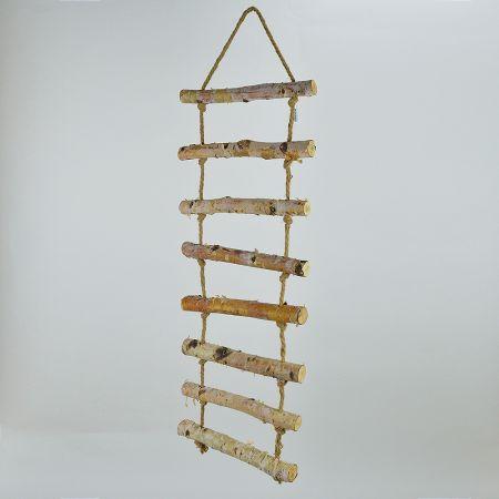Διακοσμητική Ανεμόσκαλα με 8 ξύλινα πατήματα 37x120cm