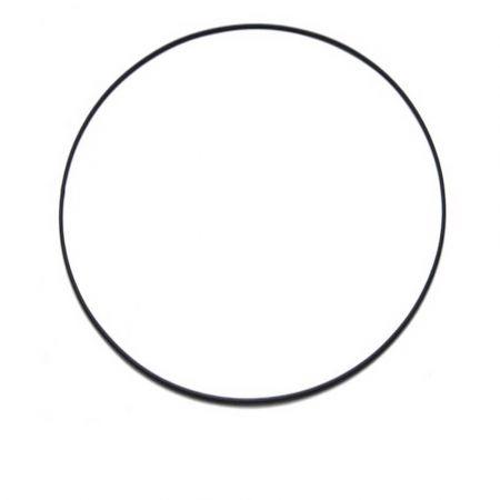 Διακοσμητικός μεταλλικός κρίκος Μαύρος 50cm