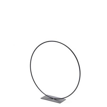 Διακοσμητικός μεταλλικός κρίκος - σταντ Μαύρος 30cm