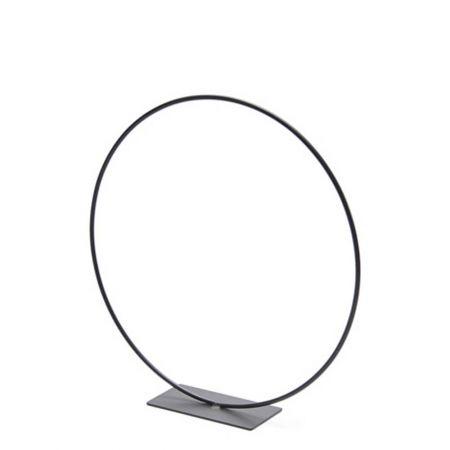 Μεταλλικός κρίκος - σταντ μαύρος 30cm