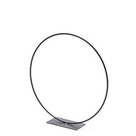 Μεταλλικός κρίκος - σταντ μαύρος 40cm