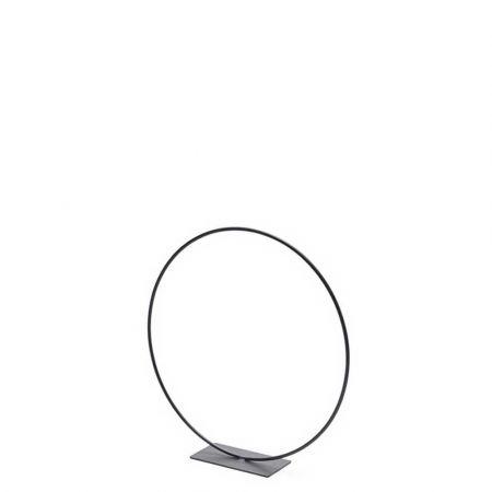 Διακοσμητικός μεταλλικός κρίκος - σταντ Μαύρος 25cm