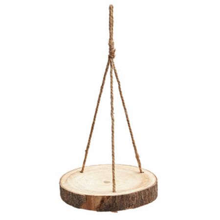 Κρεμαστό ράφι - ροδέλα από κορμό δέντρου 40cm
