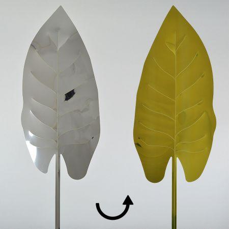 Τροπικό Φύλλο PVC Χρυσό - Ασημί 63x21cm