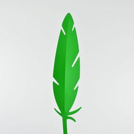 Διακοσμητικό φτερό PVC Πράσινο 42x10cm