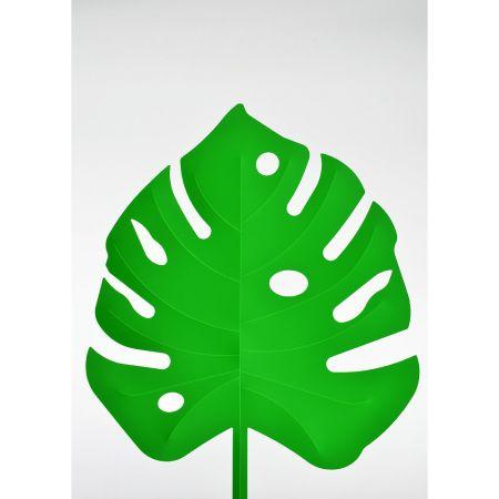 Φύλλο Μονστέρα PVC Πράσινο 55x42cm