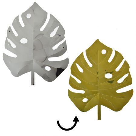Φύλλο Μονστέρα PVC Χρυσό - Ασημί 55x42cm
